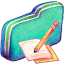 Note Green Folder icon