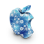 Mac blue flowers icon