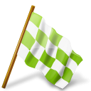 Map Marker Chequered Flag Right Chartreuse-128
