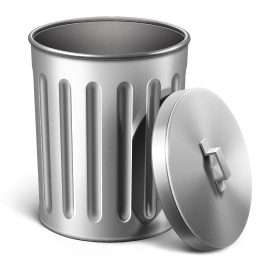 Metal Trash Empty