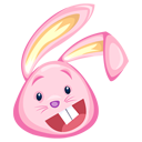 Pink Easter Bunny-128