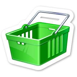 Green Shopping Cart Icon Download Fridge Magnets Icons Iconspedia