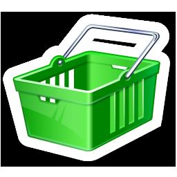 Green Shopping Cart