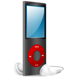 iPod Nano black and red on