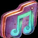 Music Alt Violet Folder-128
