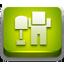 Digg green glossy icon