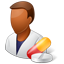 Pharmacist Male Dark icon