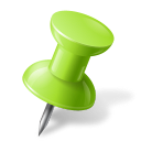 Map Marker Push Pin 1 Right Chartreuse-128