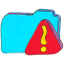 Folder b warning icon
