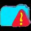 Folder b warning Icon