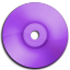Cd DVD Purple icon