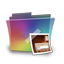 Folder rainbow picture icon