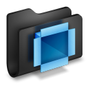 Dropbox Black Folder-128