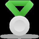 Metal silver green-128