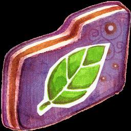 Leafie Violet Folder
