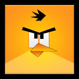Yellow Angry Bird Frameless