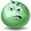 Displeased emoticon icon
