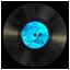 Vinyl blue icon