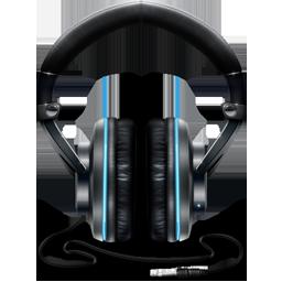 Black and Blue Headphones