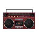 Boombox Red-128
