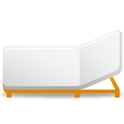 A rollaway bed