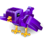 Twitter robot bird alt icon