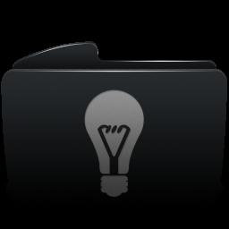 Folder black idea