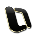 Microsoft OutLook Black and Gold-128