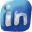 Linkedin hand drawned icon