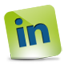 LinkedIn green hover Icon