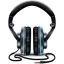 Black and Blue Headphones icon
