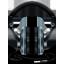 Black and Blue Headphones icon