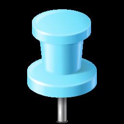 Map Marker Push Pin 2 Azure