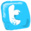 Twitter hand drawned icon
