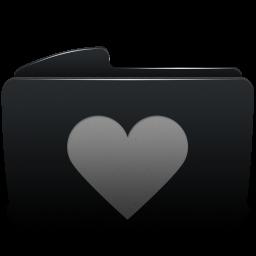 Folder black heart