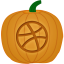 Dribbble Pumpkin Icon