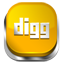 Digg orange button icon