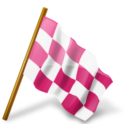 Map Marker Chequered Flag Right Pink