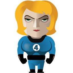 Invisible Woman Icon Download Superheroes Icons Iconspedia