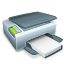 Printer with paper icon
