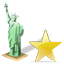 Statue of Liberty Star Icon