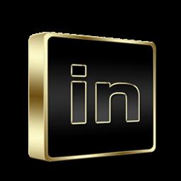 Linkedin Black and Gold