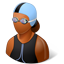 Swimmer Female Dark icon