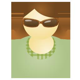 Sunglass woman green