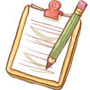 Notepad Yellow Pencil-128