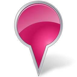 Map Marker Bubble Pink
