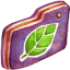 Leafie Violet Folder icon