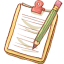 Notepad Yellow Pencil-64