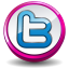 Twitter pink button icon