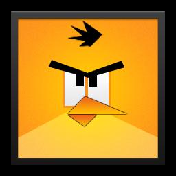 Yellow Angry Bird Black Frame